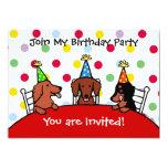 Invitación del fiesta del dibujo animado del