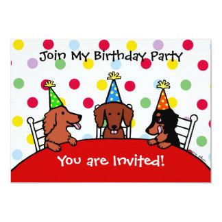 Invitación del fiesta del dibujo animado del invitación 12,7 x 17,8 cm
