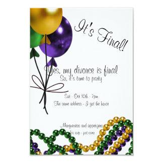 Invitación del fiesta del divorcio de los globos