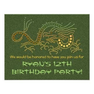 Invitación del fiesta del dragón de la tierra