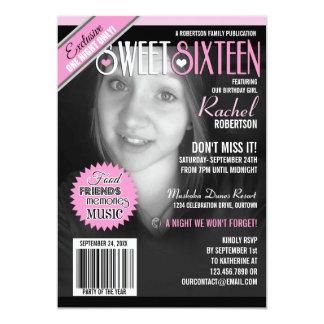Invitación del fiesta del dulce 16 de la portada