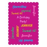 Invitación del fiesta del dulce 16, personalizada, invitación 12,7 x 17,8 cm