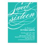 Invitación del fiesta del dulce dieciséis invitación 12,7 x 17,8 cm