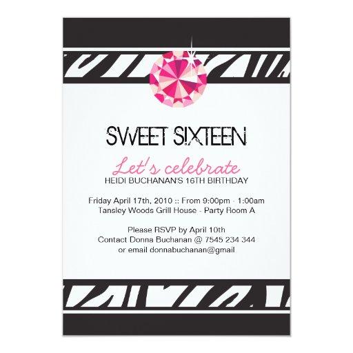 Invitación del fiesta del dulce dieciséis