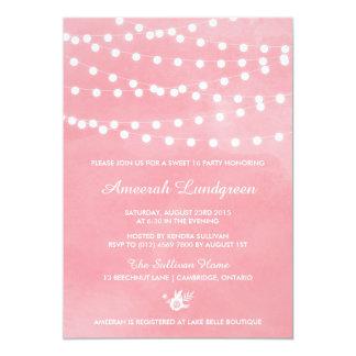 Invitación del fiesta del dulce dieciséis del rosa