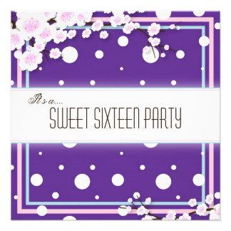 Invitación del fiesta del dulce dieciséis - púrpur