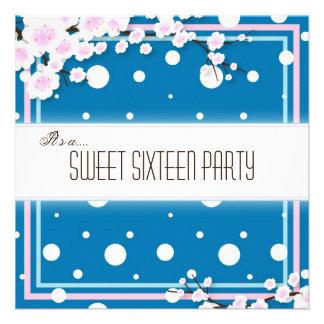 Invitación del fiesta del dulce dieciséis - rosa a
