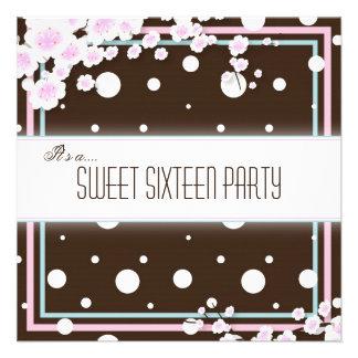 Invitación del fiesta del dulce dieciséis - rosa d