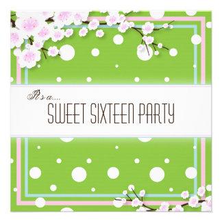 Invitación del fiesta del dulce dieciséis - rosa v