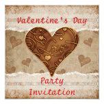 Invitación del fiesta del el día de San Valentín Invitación 13,3 Cm X 13,3cm