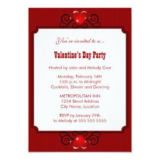 Invitación del fiesta del el día de San Valentín Invitación 12,7 X 17,8 Cm