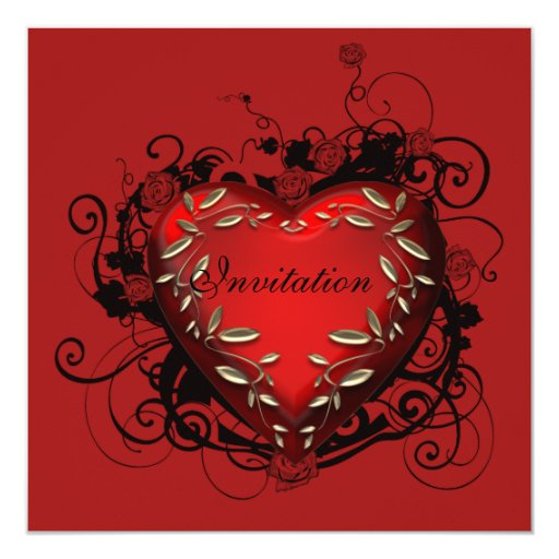 Invitación del fiesta del el día de San Valentín