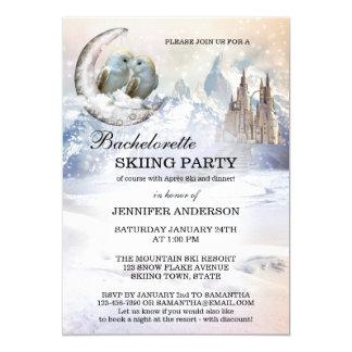Invitación del fiesta del esquí de Bachelorette