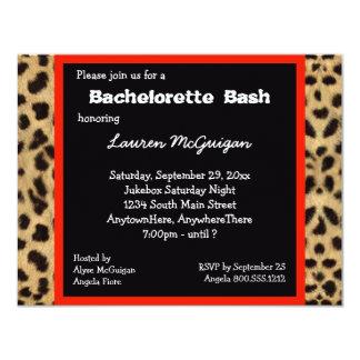 Invitación del fiesta del estampado leopardo