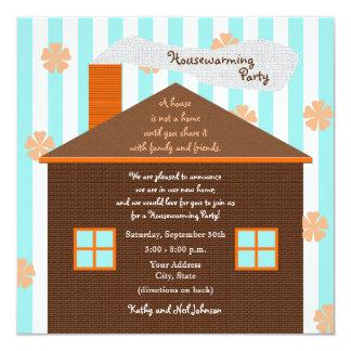 Invitación del fiesta del estreno de una casa --