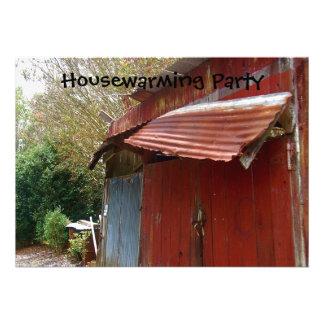 Invitación del fiesta del estreno de una casa