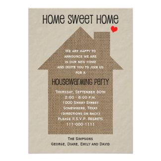 Invitación del fiesta del estreno de una casa -- C