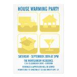 Invitación del fiesta del estreno de una casa de l