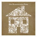 Invitación del fiesta del estreno de una casa del