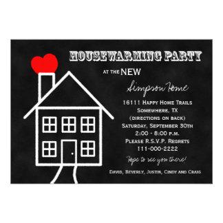 Invitación del fiesta del estreno de una casa -- E