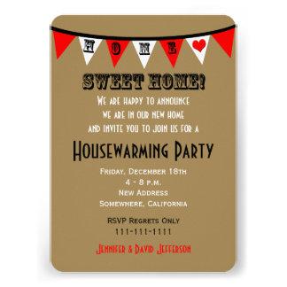 Invitación del fiesta del estreno de una casa -- G