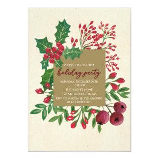 Invitación del fiesta del follaje del navidad