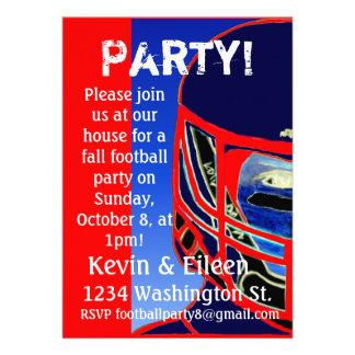 Invitación del fiesta del fútbol de 2013 personali