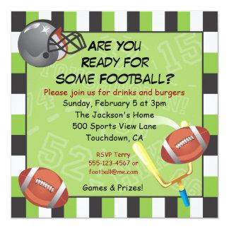 Invitación del fiesta del fútbol para los adultos