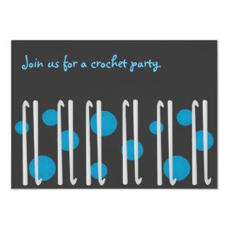 Invitación del fiesta del ganchillo