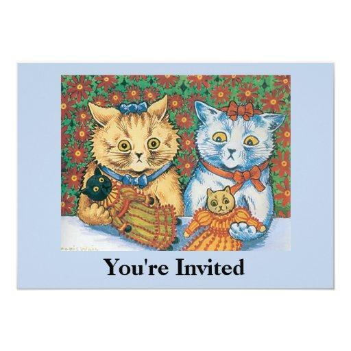 Invitación del fiesta del gato