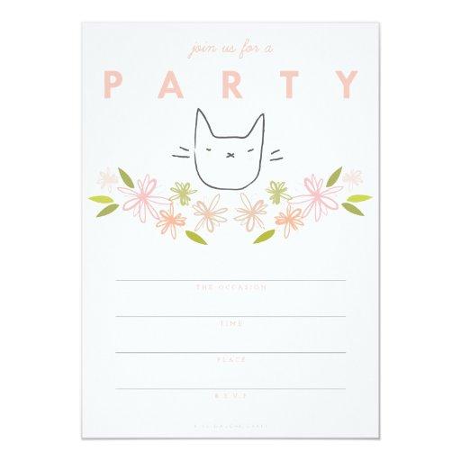 Invitación del fiesta del gato el | del jardín del