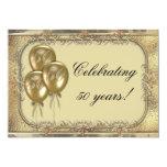 Invitación del fiesta del globo del aniversario