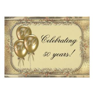 Invitación del fiesta del globo del aniversario de
