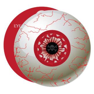 Invitación del fiesta del globo del ojo de
