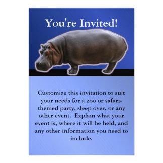 Invitación del fiesta del Hippopotamus