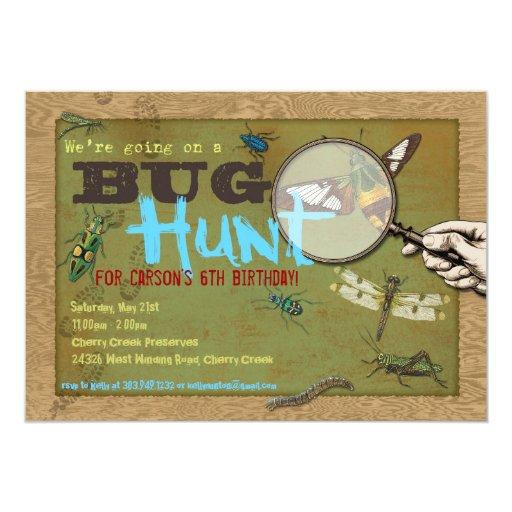 Invitación del fiesta del insecto de la caza del
