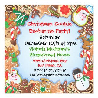 Invitación del fiesta del intercambio de la gallet