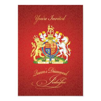 Invitación del fiesta del jubileo de diamante de