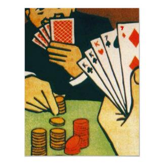 Invitación del fiesta del juego de naipes de la