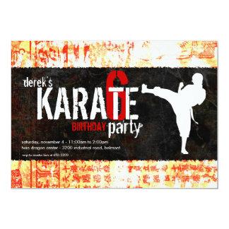 Invitación del fiesta del karate