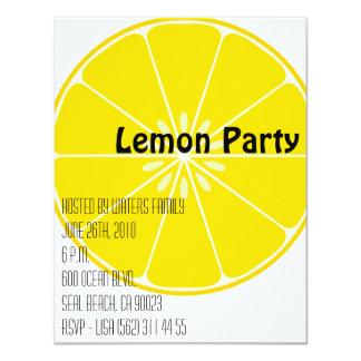 Invitación del fiesta del limón