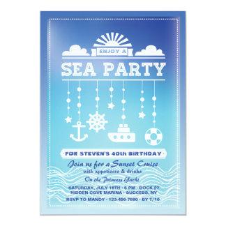 Invitación del fiesta del mar
