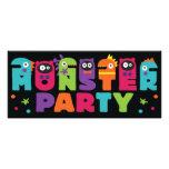 Invitación del fiesta del monstruo