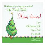 Invitación del fiesta del navidad Tree2