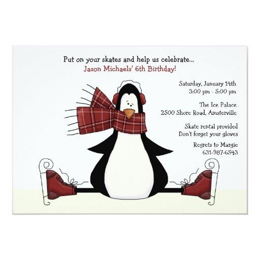 Invitación del fiesta del patinaje de hielo