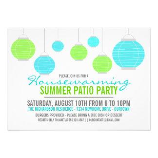 Invitación del fiesta del patio del estreno de una