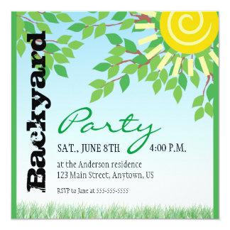Invitación del fiesta del patio trasero