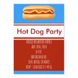 Invitación del fiesta del perrito caliente