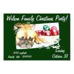 Invitación del fiesta del perro del dogo francés invitación 8,9 x 12,7 cm