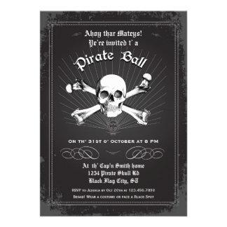 Invitación del fiesta del pirata de Halloween